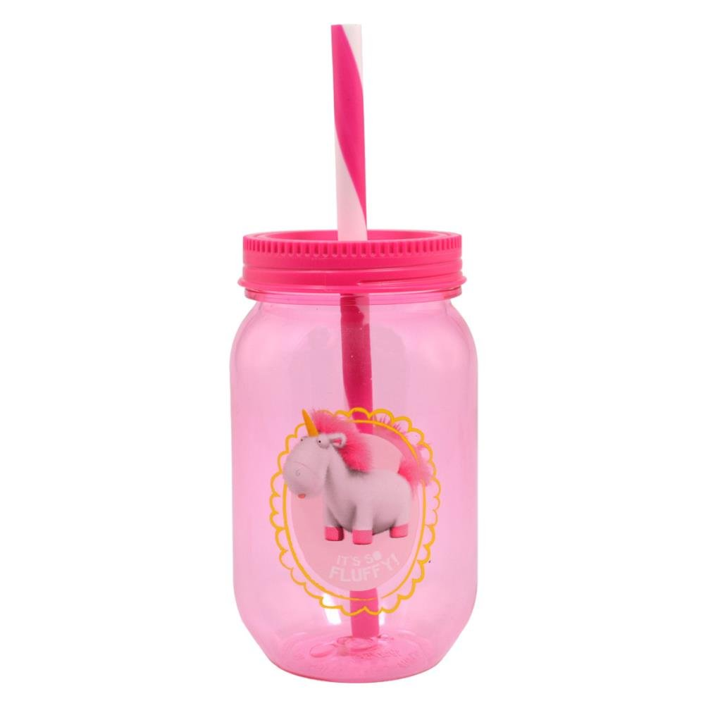 Despicable Me Unicorn Tritan Canning Jar Tumbler With Straw