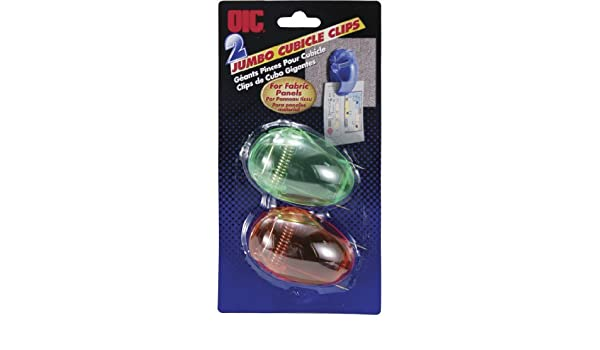 Amazon.com : OIC(R) Panel Wall Clips, Jumbo, Pack Of 2 : Cubicle Hooks : Office Products