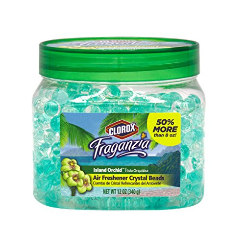 (Clorox Fraganzia Crystal Beads Air Freshener in Island Orchid | Air Freshener Beads That Neutralize Odors)