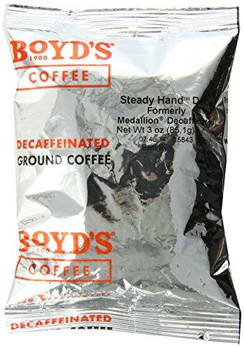 Boyds Coffee Medallion Decaffeinated Ground Medium, Light Roast Coffee, 3-Ounce Portion Packs (Pack of 40)