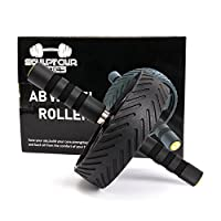 Ab roller workout equipment – fitness ab wheel home and gym training for men and women – exercise your abdominals / strengthen your core – build your own sixpack and get a fit body - healthy lifestyle
