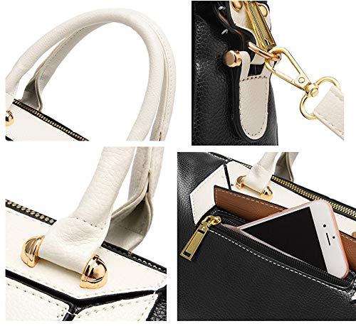 Bags Ladies Handle Handbags Black Shoulder Women Bag Top Leather for Designer Tote Purse Cossbody Faux WWTZfq