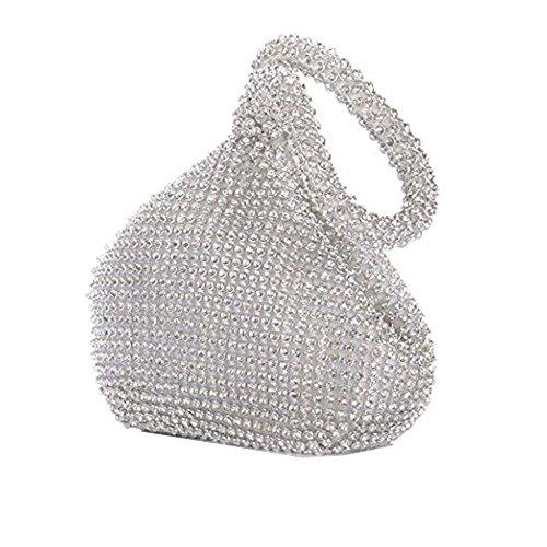 pour pour HBeauty HBeauty silver femme Pochette Pochette wdngzBxq4B