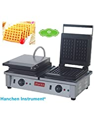 FY 2202 Commercial Electric Non Stick Double Slider Square Waffle Maker Making Machine Toaster Baker 220V