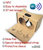 Google Cardboard V2, Version 2 or V2.0, Newest 3D VR Virtual Reality Glasses by OVO. NFC, Nose pad, Special Designed head strap, QR Code. It fits smartphones from 3 to 6 inches, like iphone 6, Note