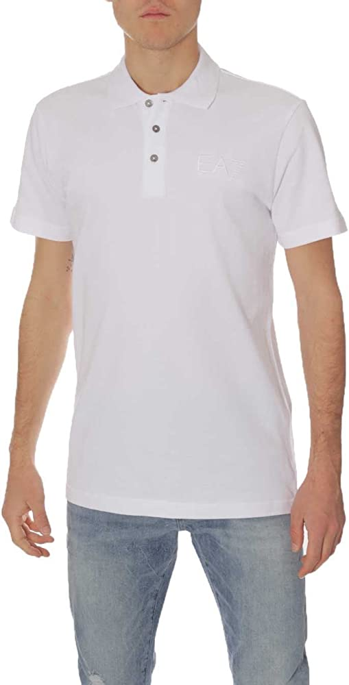 Emporio Armani - Polo - para Hombre 1100 White Large: Amazon.es ...