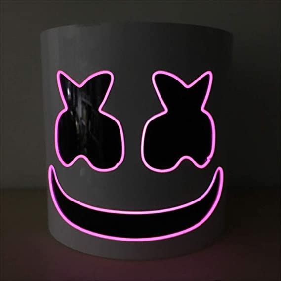 WY&WY Marshmallow Helmet Mask, Music Festival DJ Mask Helmet Party ...
