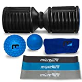 Foam Roller Massage Mobility Kit: Exercise and Orthopedic Bundle for Trigger Point and Deep Tissue Therapy with High Density Roller, Yoga and Lacrosse Massager Ball Set, Gym Towel and Resistance Bands For Sale