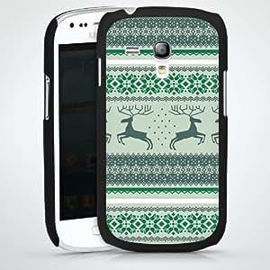 Carcasa Design Funda para Samsung Galaxy S3 Mini I8190 HardCase black - Norwegermuster - Tannenwald