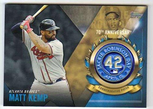 (Baseball MLB 2017 Topps Jackie Robinson Day Logo Patches #JRPC-MK Matt Kemp NM-MT Braves)