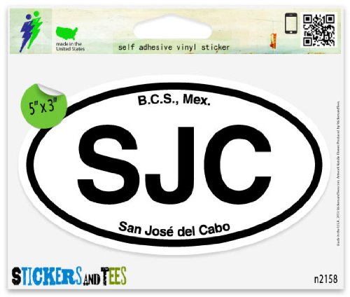 SJC San Jose del Cabo Mexico Oval Car Sticker Indoor Outdoor 5