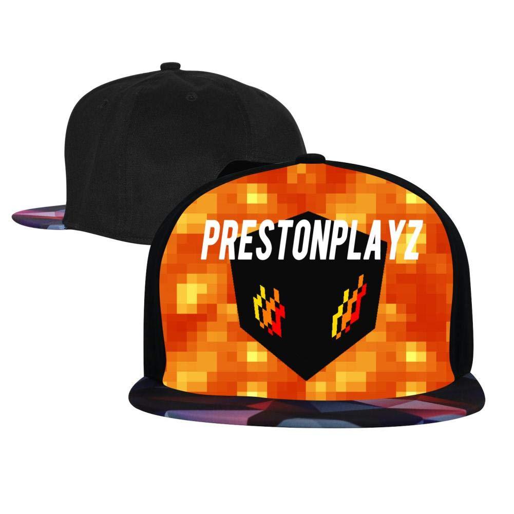 BEKAI Unisex PrestonPlayz Burning Adjustable Brimbill Flats Hat for Mens//Womens Hip Hop Caps