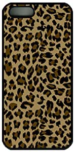 Gorgeous brown leopard grain pattern for apple iphone 5 5S case cover
