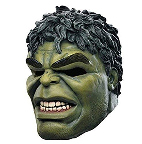 Incredible Hulk Costumes For Adults - MostaShow Cartoon Hulk Latex Mask Full