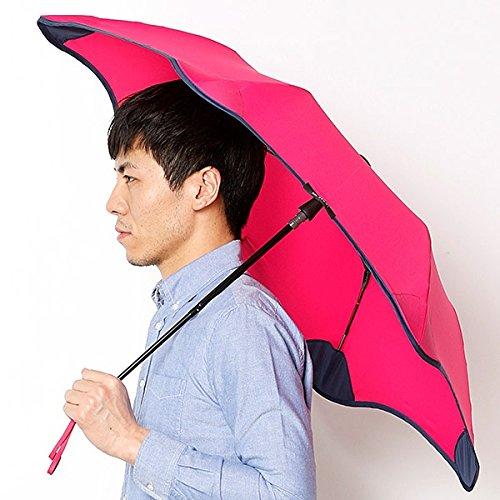 ブラント(BLUNT) 【空気力学による風に強い構造6色展開】ユニセックス折りたたみ傘(メンズ/レディース雨傘) B072K787F6 51 32ロズピンク 32ロズピンク 51