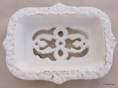 - Cast Iron Victorian Soap Dish ~ Antique White