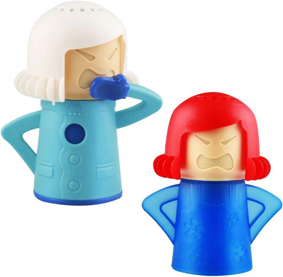 TANCUDER 2 PCS Limpiador de Microondas de Acción Rápida Limpiador a Vapor para Microondas con Agua y Vinagre Limpiador de Microondas Angry Mama sin Detergente para Horno Desodorización de Refrigerador