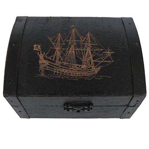 Wooden Pirate Ship Box -