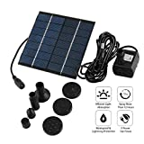1st Clarity Water Pump Fountain Aquarium Submersible Water Pumps with Solar Panel for Pond Mini Garden Pool Rockery Outdoor Decoration Project Idea DIY Watering Kit