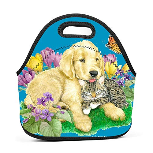 KAKAKAA Baby Dog Office Picnic Travel Lunch Bag Waterproof And Durable Lunch Travel Lunch Bag