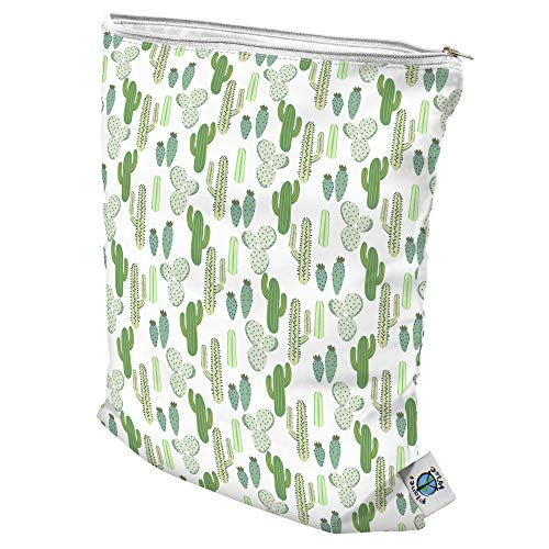 Planet Wise Wet Diaper Tote Bag (Prickly Cactus, Medium) from Planet Wise