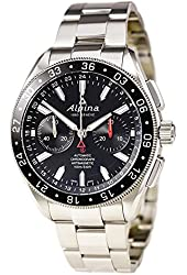 Alpina 4 Chronograph Automatic Black Dial Steel Mens Watch AL-860B5AQ6B