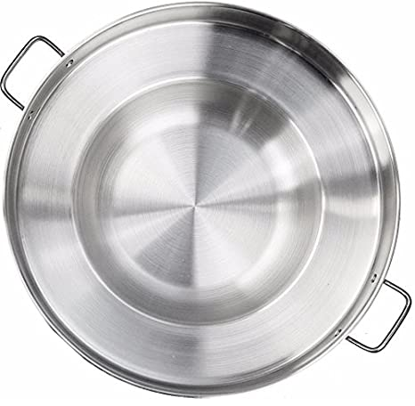 Large Mexican Style Wok Comal Cazo Griddle Fryer Chicharron Deep Fry Pan Stainless Steel For Carnitas Panza Abajo 22.5