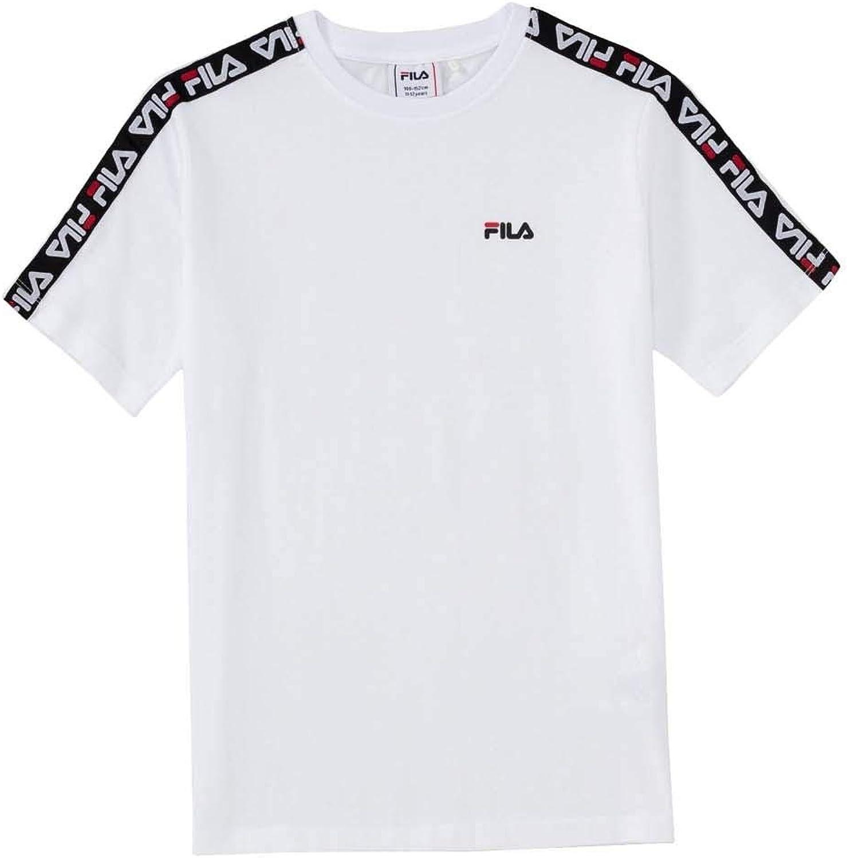 Fila T Shirt a Manica Corta Bambino Bianca
