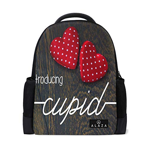 Designed Cupid Font Backpack Womens Laptop Daypack School Hiking Mens Travel Bags Student