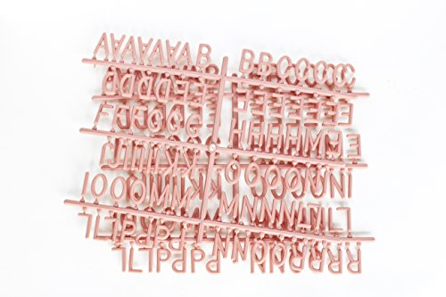 PINK 1-inch 290 Character Helvetica Sprue Letter Set for Changeable Letter Boards
