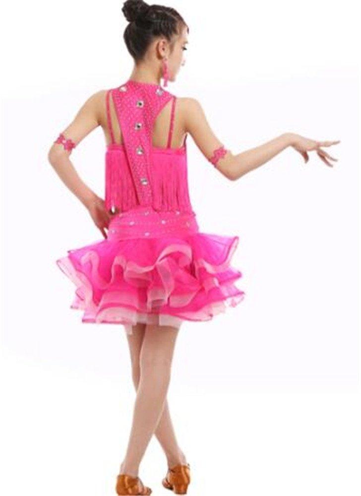 peiwen Vestido de Baile Latino para niña/Niños Latin tocan ...