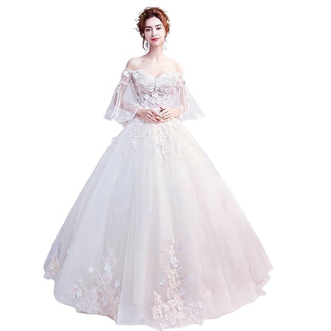 Rillsiy Vestido De Novia Elegante del Vestido De Boda del Champán De La Señora Nupcial 2018