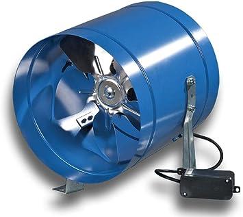 Ventilador axial industrial, ventilador de tuberías, tubo en espiral, serie KVKOM tipo 150: Amazon.es: Bricolaje y herramientas