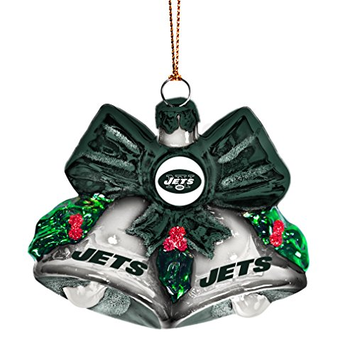 NFL New York Jets Glitter Bells Ornament