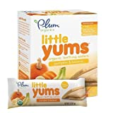 Plum Organics Baby Little Yums Organic Teething Wafers, Pumpkin Banana 6 ea(PACK F 2)O by Plum Organics For Sale