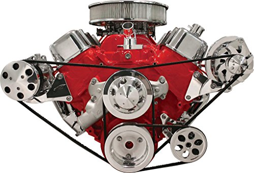 NEW BILLET SPECIALTIES BBC POLISHED ALTERNATOR & A/C COMPRESSOR BRACKETS, SIDE MOUNT, FOR BIG BLOCK CHEVY SHORT WATER PUMP
