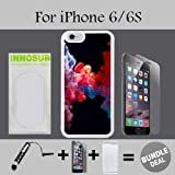 3in1 vape - Colorful Vape Smoke Custom iPhone 6 Cases/6S Cases-White-Plastic,Bundle 3in1 Comes with HD Tempered Glass/Universal Stylus Pen by innosub