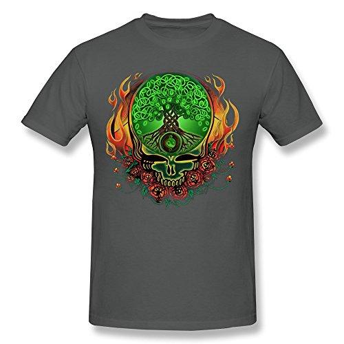 [LANFENG Men's Grateful Dead Celtic Knot Tree Of Life T-shirt Size XL DeepHeather] (Grateful Dead Celtic Knot)