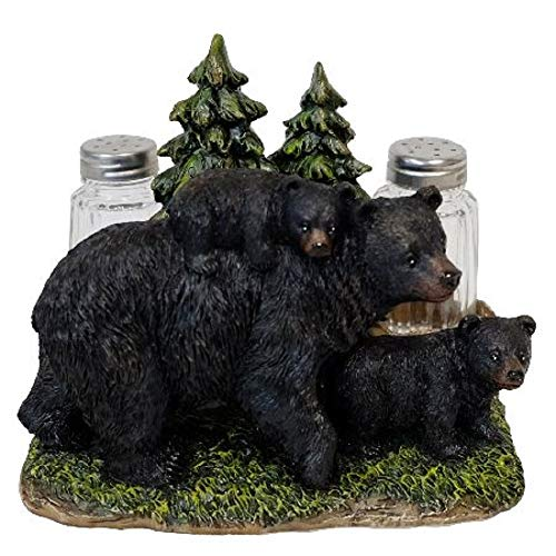- DeLeon Collections Mama Black Bear with Cubs Salt and Pepper Shakers Napkin Holder 6.6 X 5 X 5.25