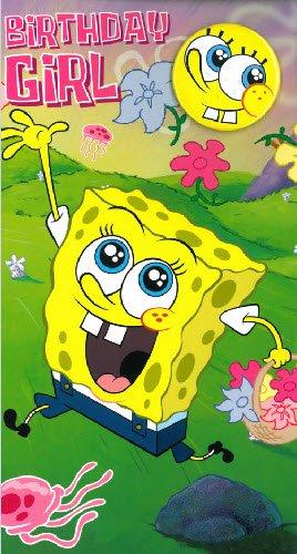 Geburtstagskarte für Mädchen, Motiv Spongebob: Amazon.de: Küche