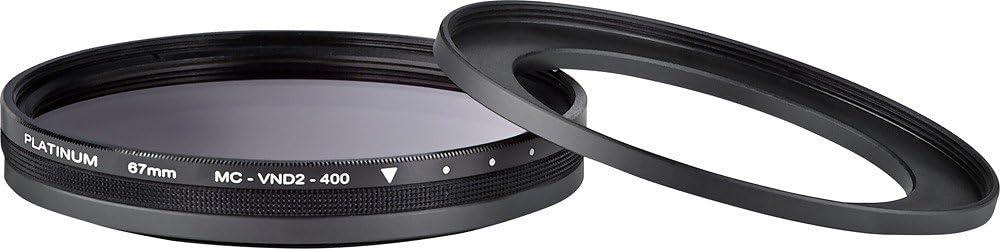 52mm Black Lens Filter ND Model: PT-MC400VND67 58mm and 67mm Variable Neutral Density Platinum Series