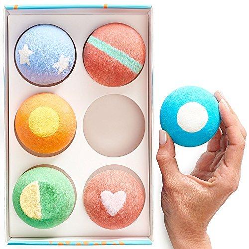 Girlfriend 6x5oz Gift Idea for Women Teens Kids All Natural and Organic Lush Bath Bomb with/Moisturizing Shea Butter for Spa Bath Handmade in USA Bath Bombs Gift Set