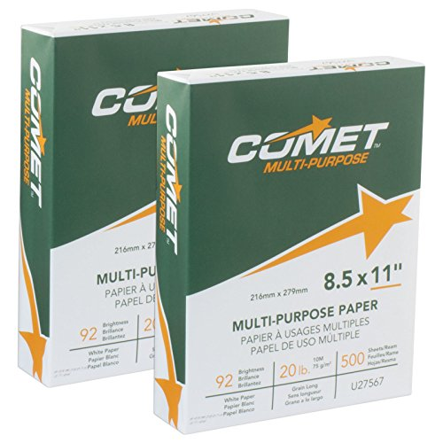 Comet Copy Paper, 92 Bright, 20LB. 8.5x11 8.5 x 11 White 1, 000 Sheets