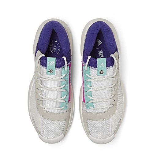 Adidas Mens Crazy 1 Adv Nicekicks Bianco / Bianco Sporco-aqua Mesh Bianco / Bianco / Energia Aqua