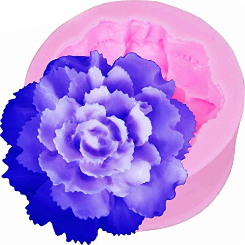 3d Flower Carnation Silicone Fondant Soap 3D Cake Mold Cupca