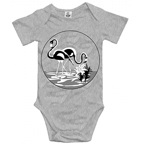 Flamingo Couples Onesies Short Sleeve Bodysuits Soft Baby Romper Boys Girls 0-24 Months by XIAOTT