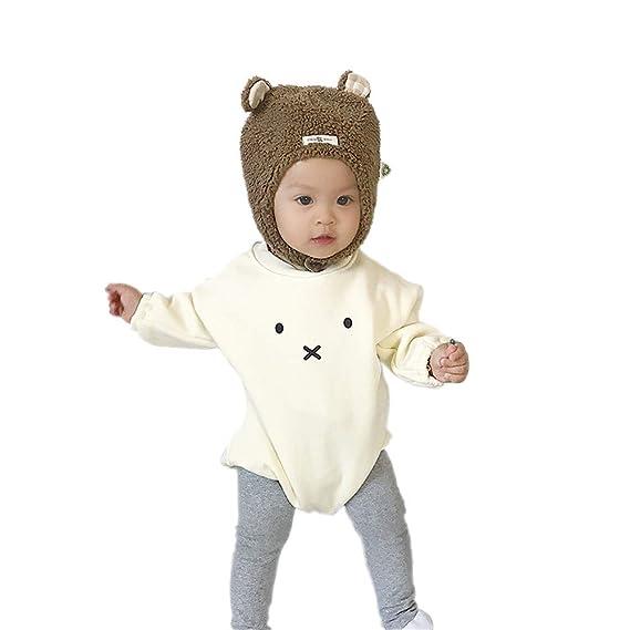 ... de Algodón Invierno Otoño Recien Nacido Dibujos Animados Conejo Princesa Camiseta Peleles Monos de Manga Larga Bautizo Ropa de Una Pieza para Bebé Niños ...
