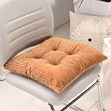 """[HISY UPDATE]Chair Pad And Cushion ,Fashion Indoor Home Kitchen Office Chair Pads Seat Pads Cushion Chair Pad Dining Chair Coffee 2 Packs 17""""x17""""x2""""/Piecs"""
