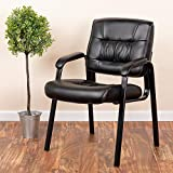 Flash Furniture Leather Side Chair, Black