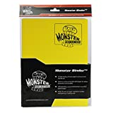 Monster Binder - 9 Pocket Trading Card Album - Matte Yellow - Holds 360 Yugioh, Magic, and Pokemon Cards